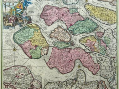 Gouldmaps Verkocht - Seutter M. - Zeelandiae Comitatus (..) - 1734