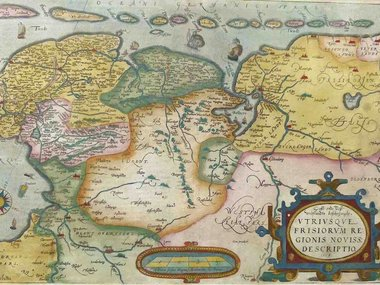 Gouldmaps Ortelius A, - Oost end West Vrieslandts beschrijvinghe (..) - 1584