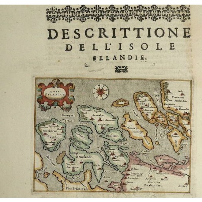Collectie Gouldmaps - Zeeland; G. Porro /  T. Porcacchi - Isole Selandie - 1576