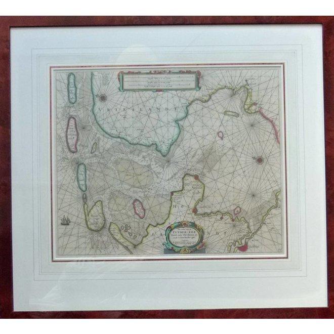 Collectie Gouldmaps - Zuiderzee; H. Doncker -  Pas Caart van de Zuyder-Zee, Texel, ende Vlie-stroom, alsmede 't Amelander gat. - 1665