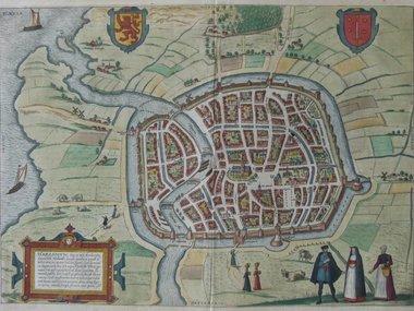 Gouldmaps Haarlem - F. Hogenberg / J. Janssonius - Harlemum (..). - 1657