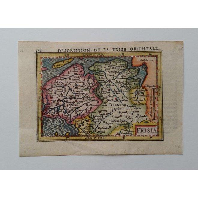 Collectie Gouldmaps - Friesland, Groningen, Drenthe; J. Hondius / P. Bertius - Frisia - 1606