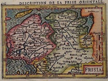 Gouldmaps Hondius J. / P. Bertius - Frisia - 1606