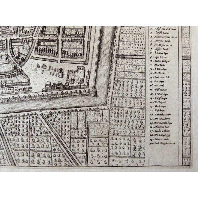 Collectie Gouldmaps - Leeuwarden; J. Blaeu - Leoverdia - 1649