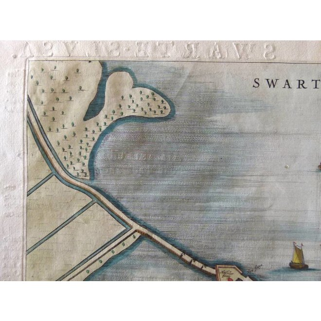 Collectie Gouldmaps - Zwartsluis - J. Blaeu - Swartesluys. - 1649