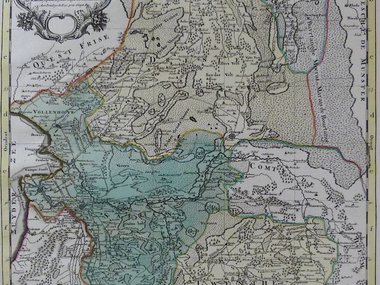 Gouldmaps Verkocht- Overijssel en Drenthe ; H.Jaillot / P. Mortier - La Seigneurie de Over-IJssel (..) - 1692