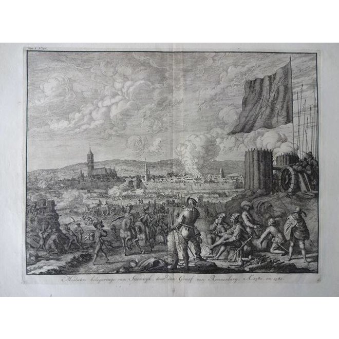 Collectie Gouldmaps - Steenwijk; J. Luyken - 1730 - mislukte belegeringe van Steenwijk (..).
