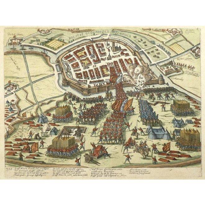 Verkocht - Collectie Gouldmaps - Groningen; F. Hogenberg - 1596 - Die Stat Groeningen ingenomen.