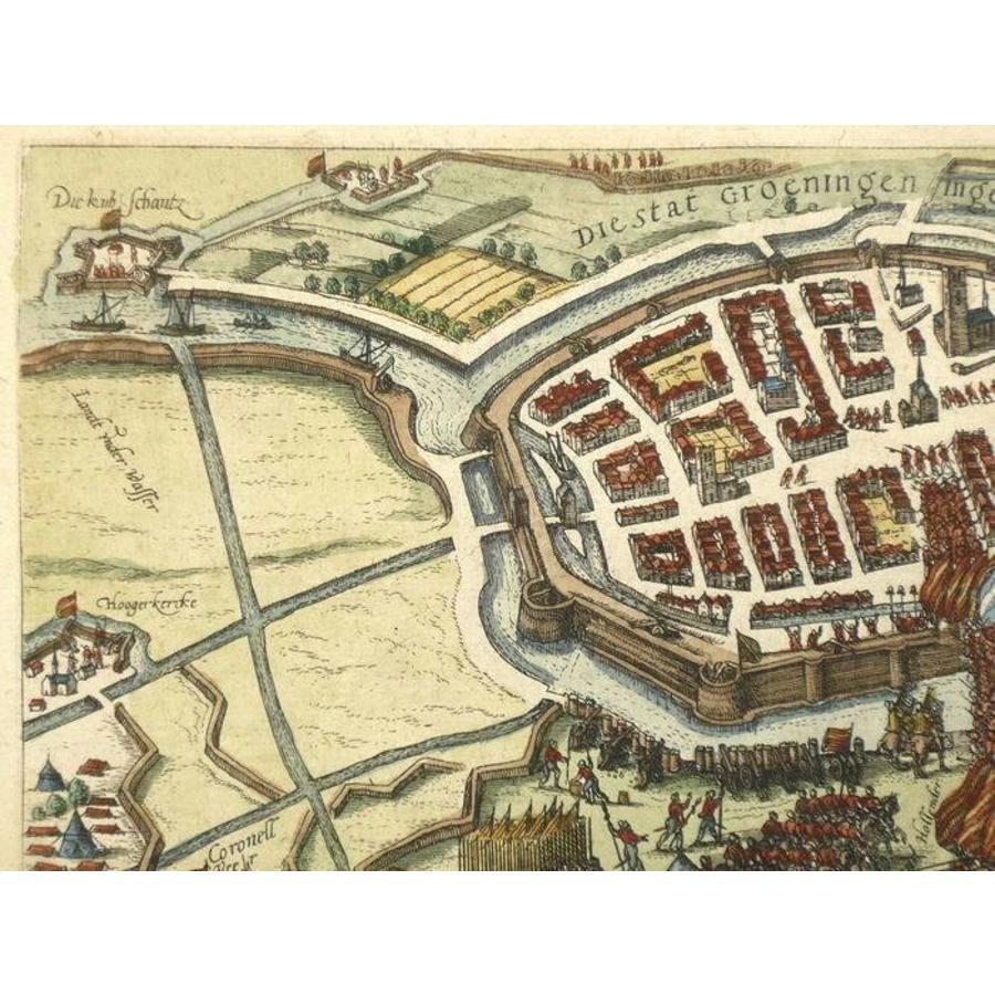 Gouldmaps Groningen - F. Hogenberg - Die Stat Groeningen ingenomen - 1596 ca.
