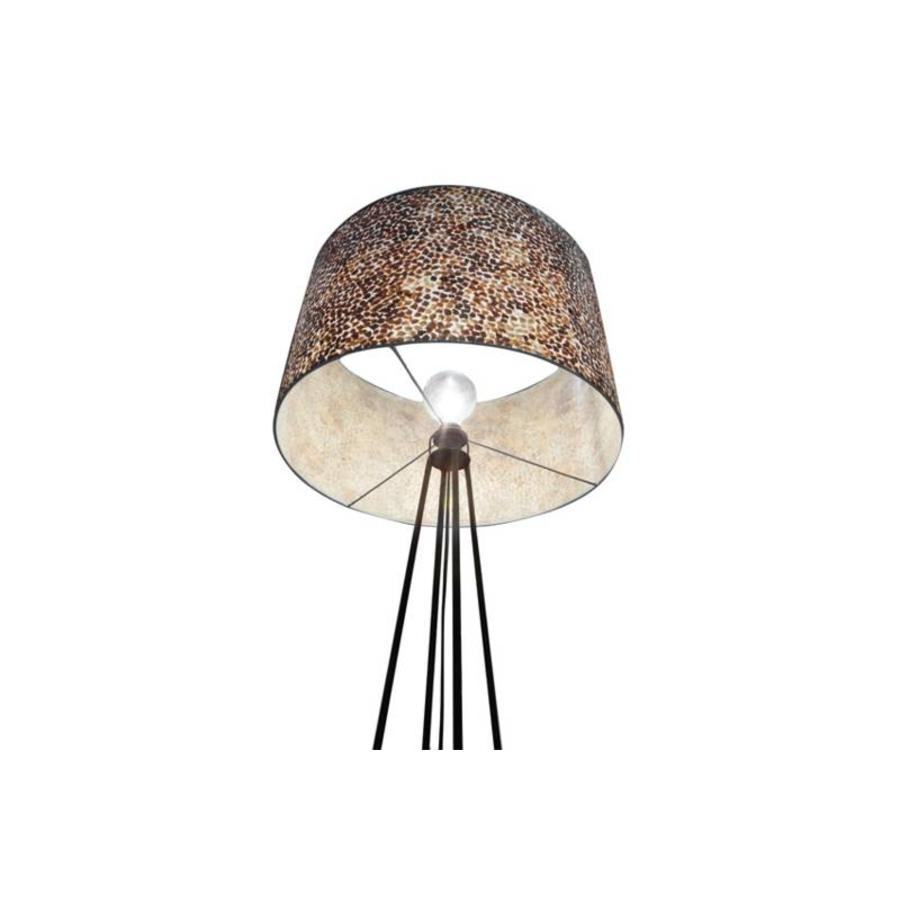 Wangi Gold - vloerlamp met kap - hoogte 158 cm