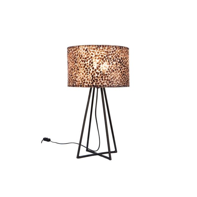 Schelpenlamp - Wangi Gold - Capri tafellamp met kap