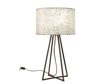 Villaflor Schelpenlamp - Wangi White - Capri tafellamp met kap
