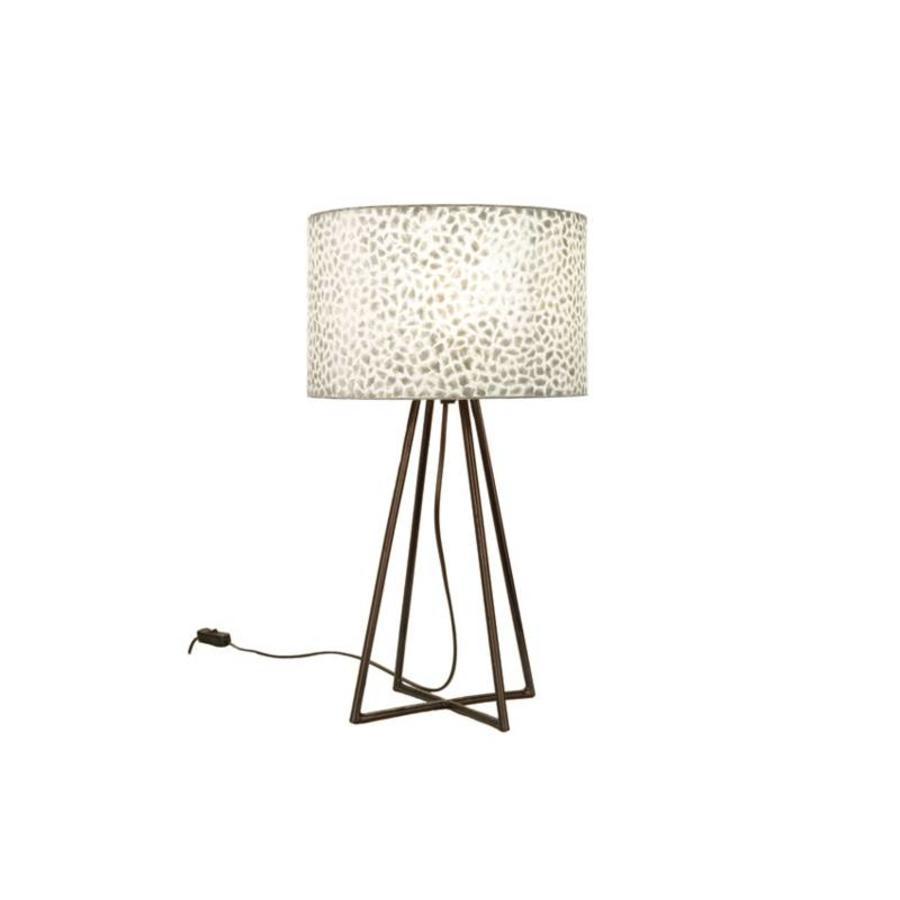 Wangi White - tafellamp met kap - hoogte 50 cm