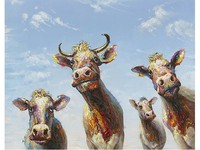 La Casa di Caesar Painting Happy Cows 110x140