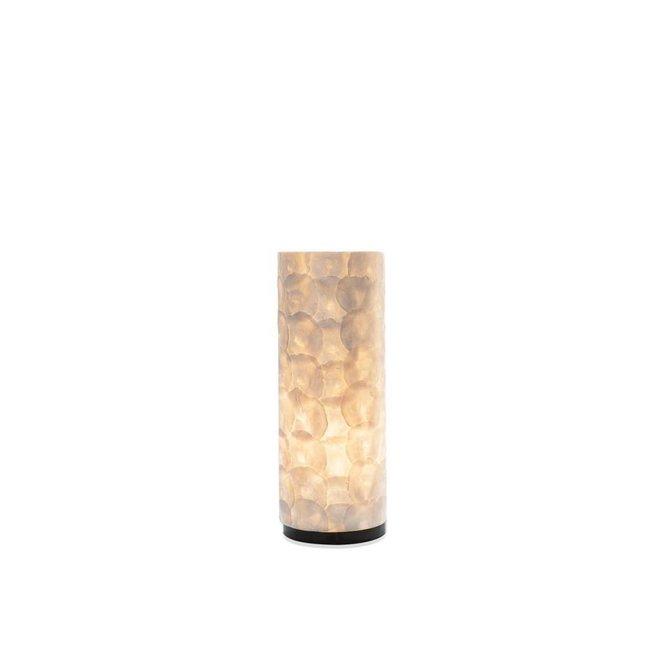 Villaflor schelpenlamp - Full Shell - tafellamp - Cilinder - 30 cm