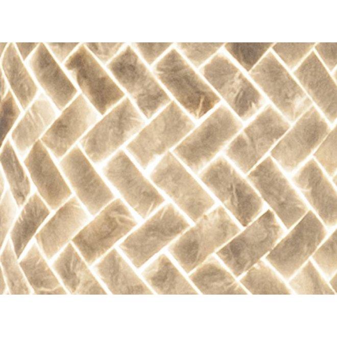 Villaflor schelpenlamp - Zigzag - vloerlamp - Cilinder - hoogte 200 cm