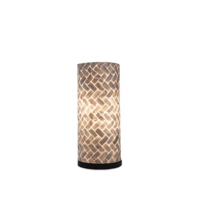 Schelpenlamp - Zigzag - Cilinder - 30  cm
