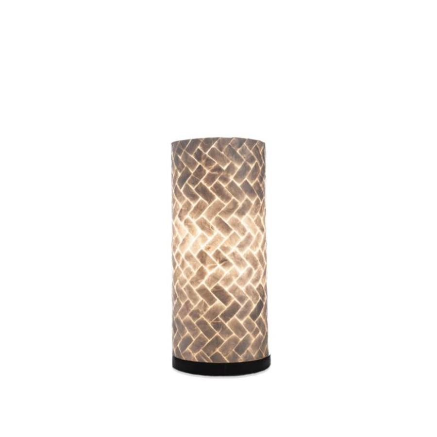Zigzag - tafellamp - Cilinder - hoogte 30 cm
