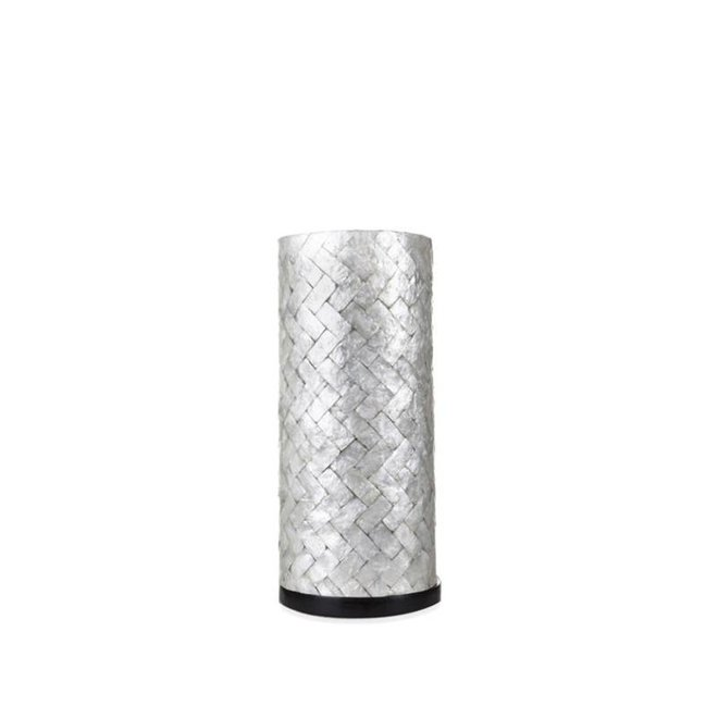 Villaflor schelpenlamp - Zigzag - tafellamp - Cilinder - hoogte 30 cm