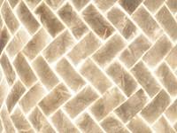 Villaflor Villaflor schelpenlamp - Zigzag - tafellamp - Cilinder - hoogte 40 cm