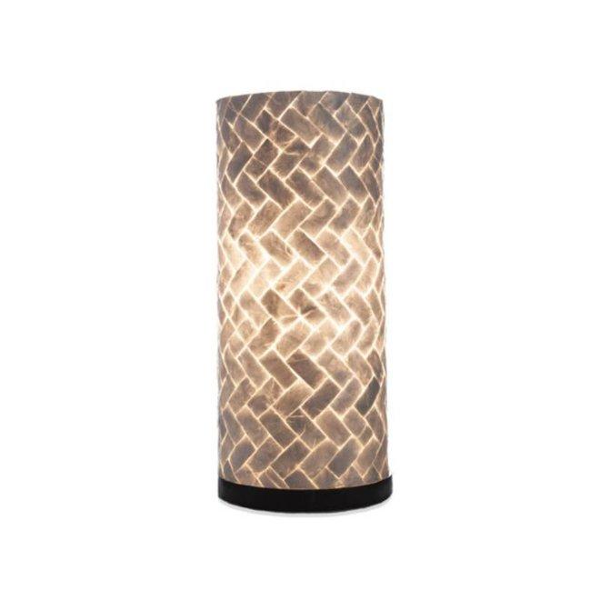 Villaflor schelpenlamp - Zigzag - tafellamp - Cilinder - hoogte 40 cm