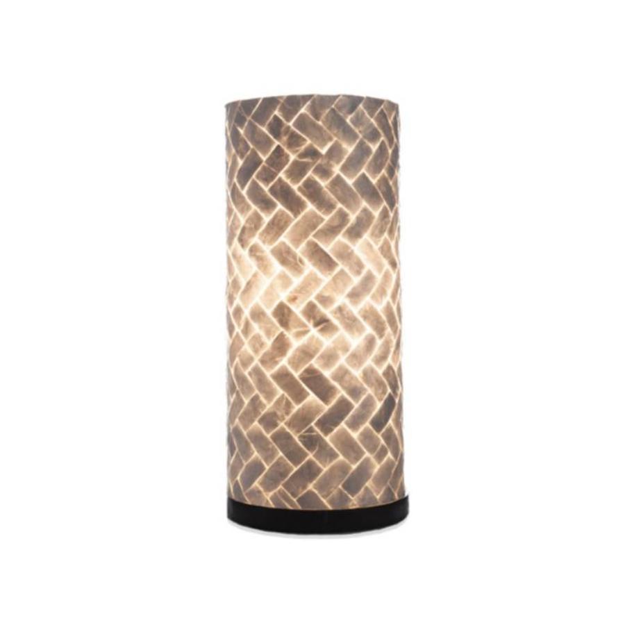Zigzag - tafellamp - Cilinder - hoogte 40 cm