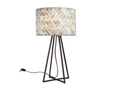 Villaflor Schelpenlamp - Zigzag - Capri tafellamp met kap