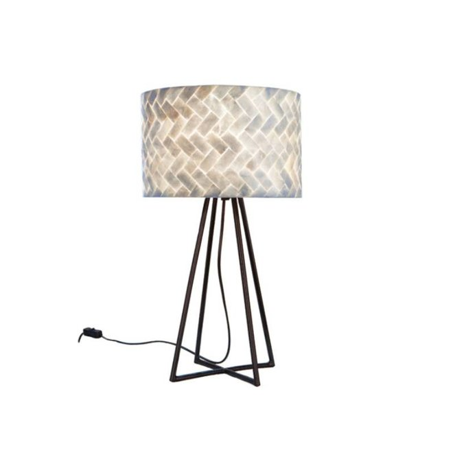 Schelpenlamp - Zigzag - Capri tafellamp met kap