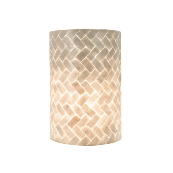 Villaflor schelpenlamp - Zigzag - wandlamp - Rectangle klein