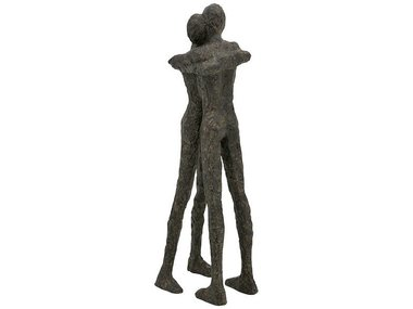 Exner Figuur 'Embrace', rough brown