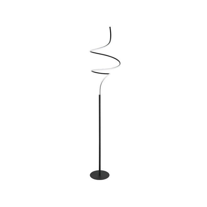 Vloerlamp Curle Zwart