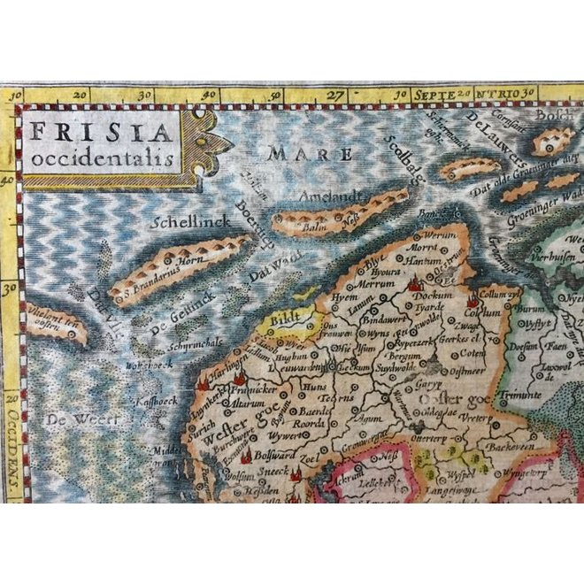 Collectie Gouldmaps - friesland, Groningen, Drenthe; J. Cloppenburgh / P. Kaerius - FRISIA Occidentalis - 1632