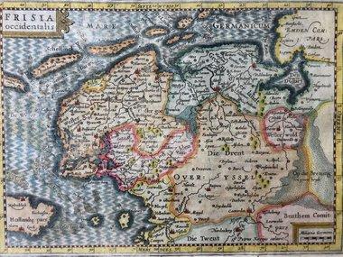 Gouldmaps Cloppenburgh J. / Kaerius P. - FRISIA Occidentalis - 1632