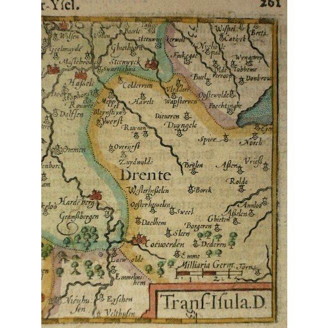 Collectie Gouldmaps - Overijssel, Drenthe; C. Claeszn - Trans-Isula. D. - 1609