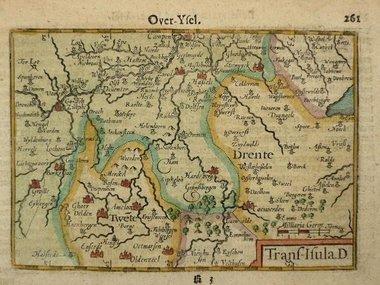 Gouldmaps Overijssel, Drenthe; C. Claeszn - 1609