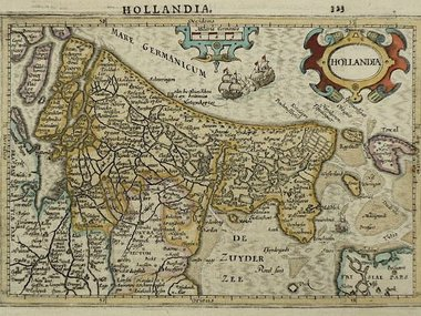 Gouldmaps Holland; J. Hondius / G. Mercator - Hollandia - 1610