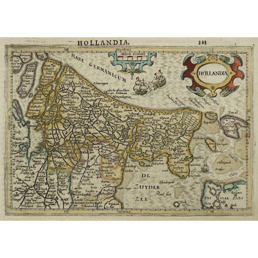 Gouldmaps Verkocht - Holland; J. Hondius / G. Mercator - Hollandia - 1610