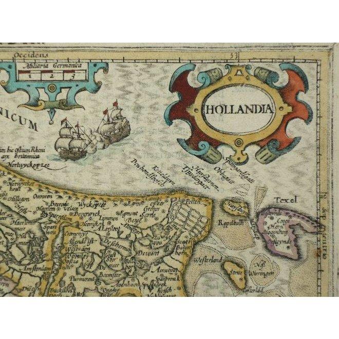 Verkocht - Collectie Gouldmaps - Holland; J. Hondius / G. Mercator - Hollandia - 1610