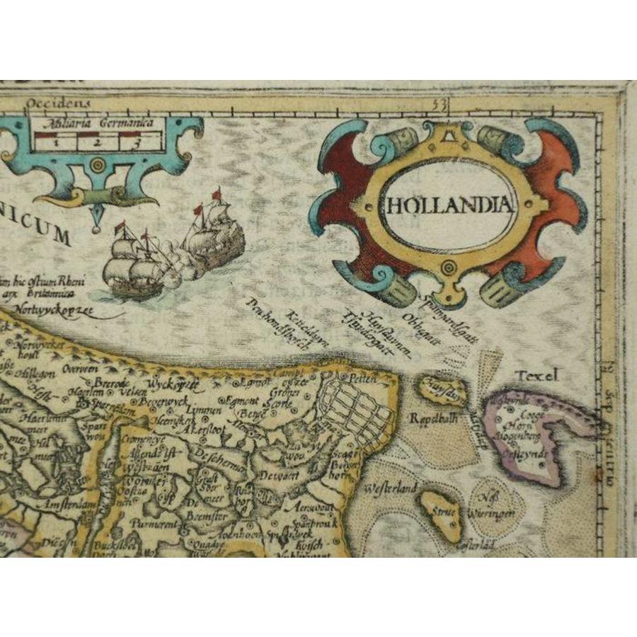 Gouldmaps Holland; J. Hondius / G. Mercator - Hollandia - 1610