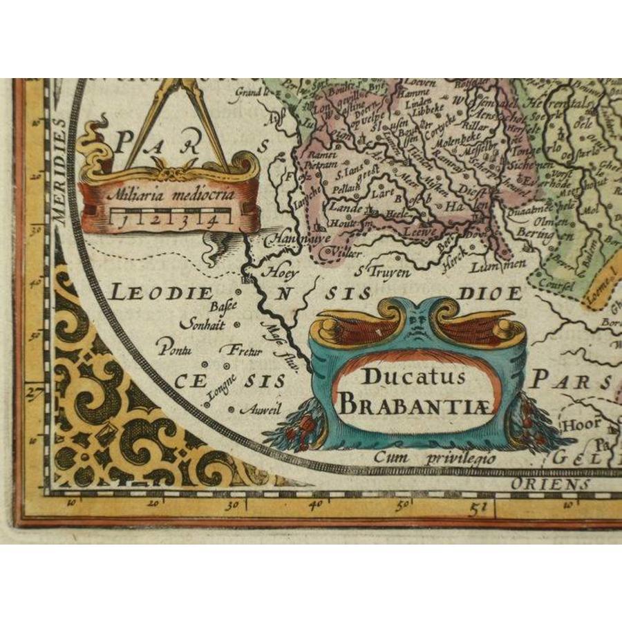 Gouldmaps Brabant; J. Janssonius / A.Goos - Ducatus Brabantiae - 1630