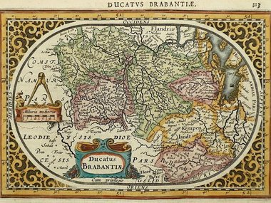 Gouldmaps Brabant; J. Janssonius / A. Goos - Ducatus Brabantiae - 1630