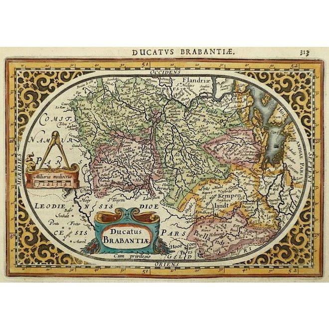 Verkocht; Brabant; J. Janssonius / A. Goos - Ducatus Brabantiae - 1630