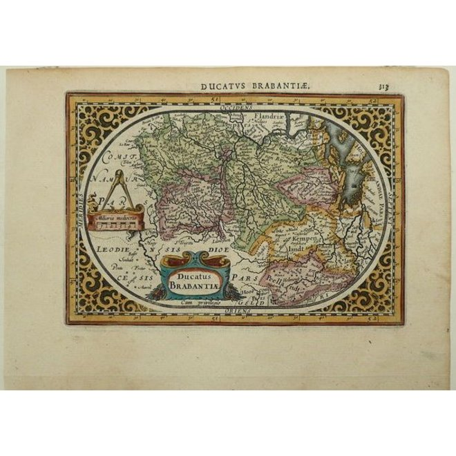 Verkocht; Brabant; J. Janssonius / A.Goos - Ducatus Brabantiae - 1630