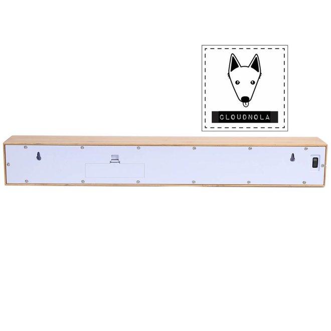 Cloudnola Teksttime Clock Bamboo White