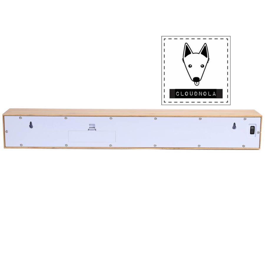 Cloudnola Cloudnola Teksttime Clock Bamboo White