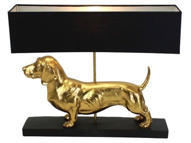 Werner Voß Table Lamp Dachshund, gold