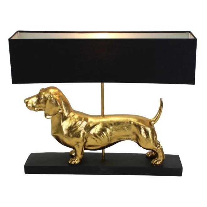 Table Lamp Dachshund, gold