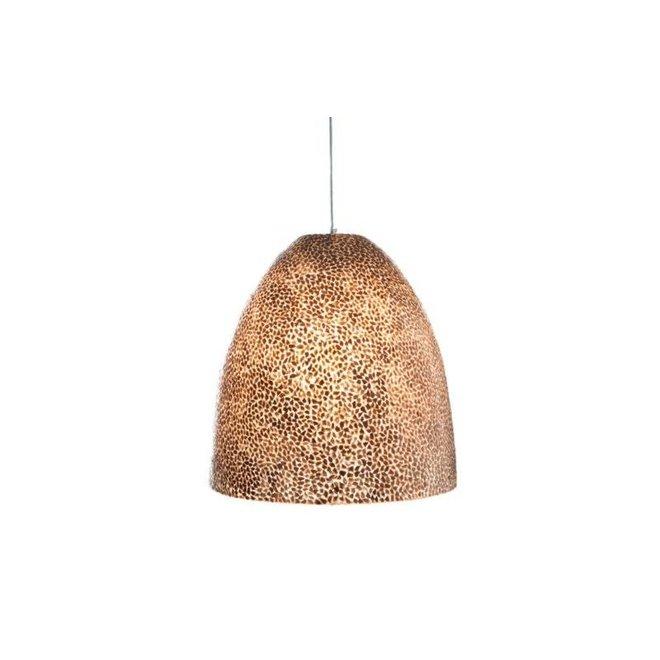 Schelpenlamp - Wangi Gold - Hangende Conus - M