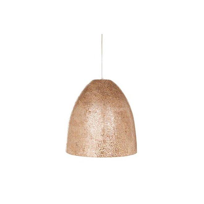 Villaflor schelpenlamp - Wangi Gold - hanglamp - Hangende Conus - M