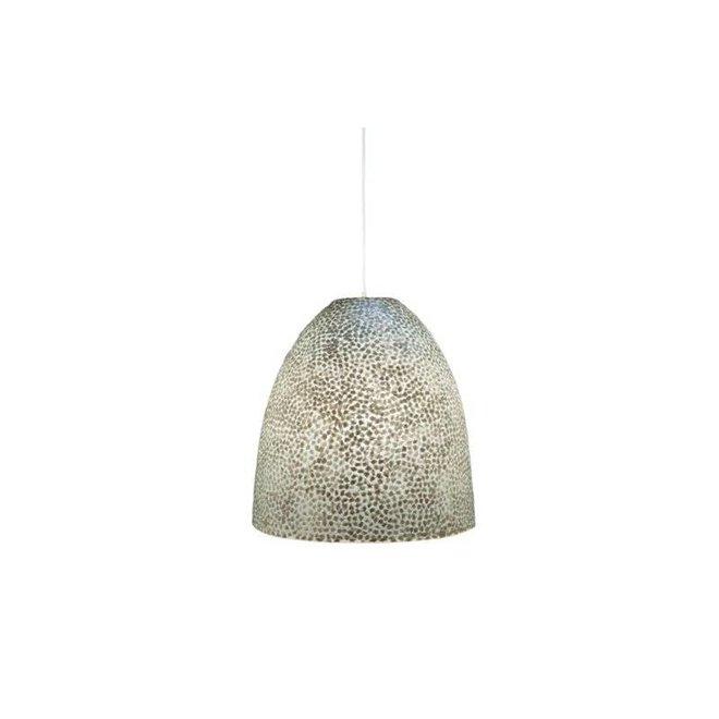 Schelpenlamp - Wangi White - Hangende Conus - M
